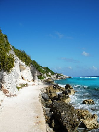 Isla Mujeres, Mexico: the pathway to the temple