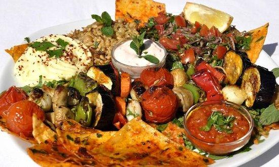 Mozaik Bahce: Vejetaryen Şiş Kebap - Vegetarian Kebab - not just for vegetarians