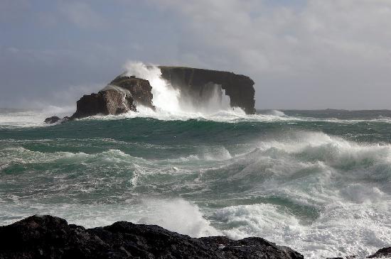 Szetlandy, UK: Dore Holm, Northmavine, Shetland