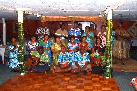 Captain Cook Cruises - Fiji Day & Dinner Cruises : The crew entertaining guests