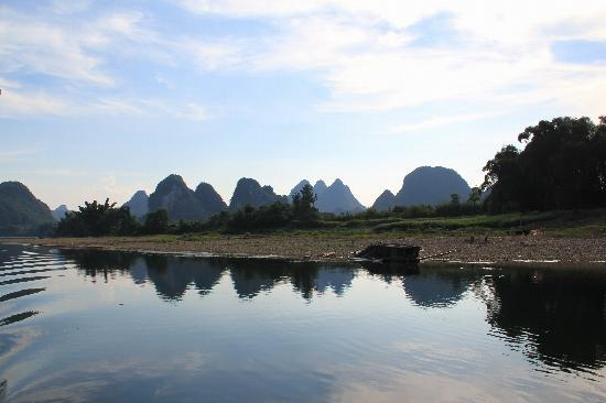 Guilin, China: reflection of Li River