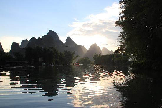 Guilin, Cina: sunset scenery