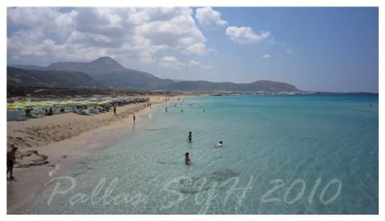 Plage d'Elafonissi : 另一個粉紅沙灘Falassarna