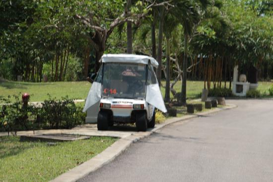 Nirwana Gardens - Indra Maya Pool Villas: Every villa has a buggy and while it isn't fast, you cannot live without it.