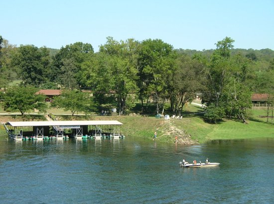 Flippin, AR: On the bank of the White River, Arkansas Ozark Mountains