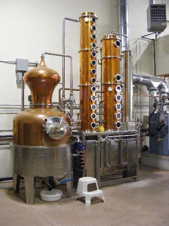 Ryan & Wood Distilleries: The 150 gallon Still.