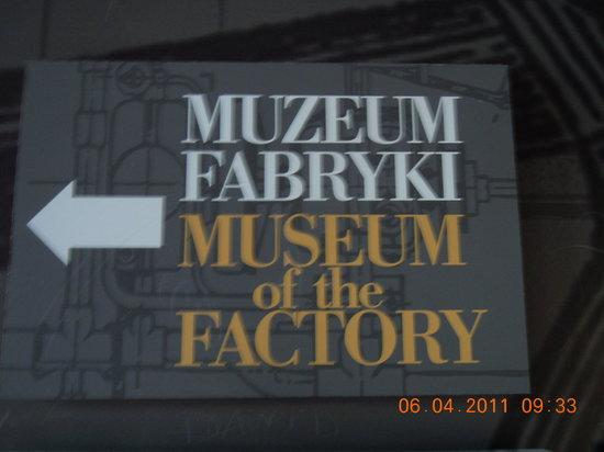 Lodz, Polonia: Schild beim Eingang