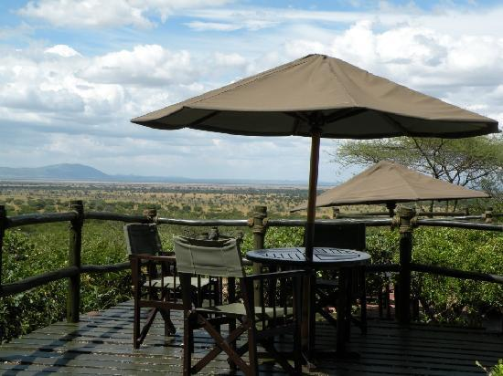 Biaprocade Day Tours & Safaris: View from the terrace in Kirawira Tented Camp