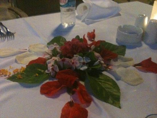 Turquoise Resort Hotel & Spa: our table ready for us every night!