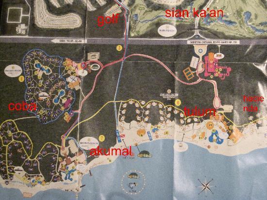 Grand Bahia Principe Coba: plan  du  domaine