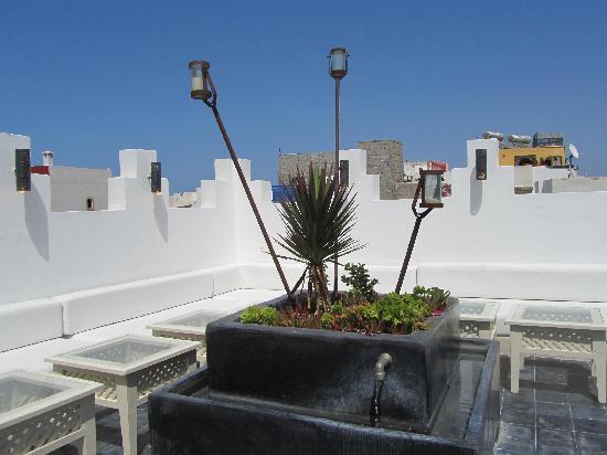 Riad Malaika: top floor patio