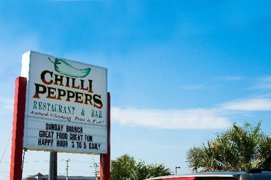 Chilli Peppers Restaurant: Look for us at Mile Post 5.5