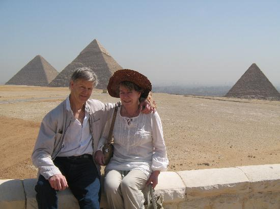 Egypt Sunset Tours: In Front of the Giza Pyramids
