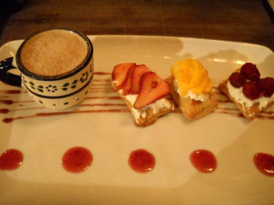 "Don Diego de la Selva: Dessert at ""Paladante""."