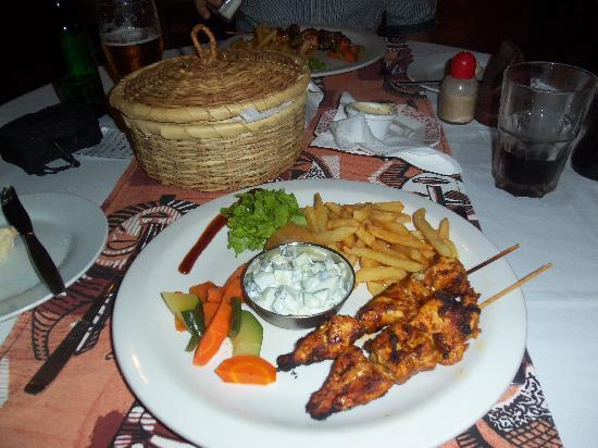 The Kora: my chicken meal, lovely