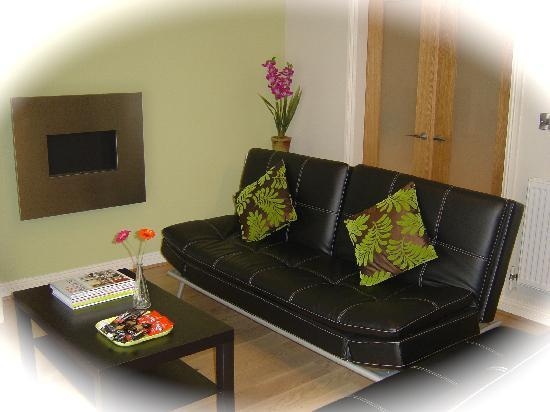 "Betty's York Holiday Flats & House: Town house lounge with Sony 40"" LCD TV, DVD< CD players."