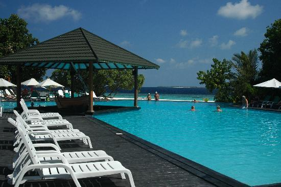Adaaran Select Meedhupparu : la piscine, son bar, sa mer ...