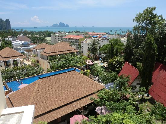 Aonang Cliff Beach Resort: View from our balcony