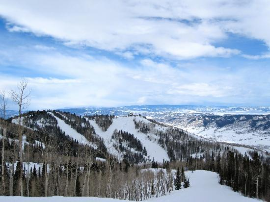 Steamboat Springs, CO: Steamboat from the mountain