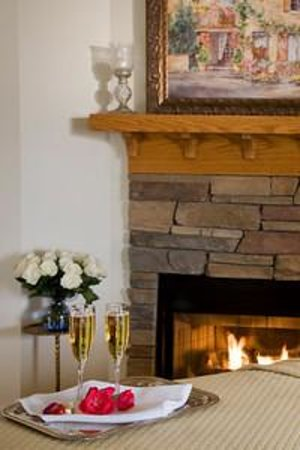 Lookout Point Lakeside Inn: Snuggle by a Fireplace in Your Private Room