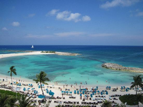 Atlantis - Harborside Resort : The Cove beach from the top of the waterslide