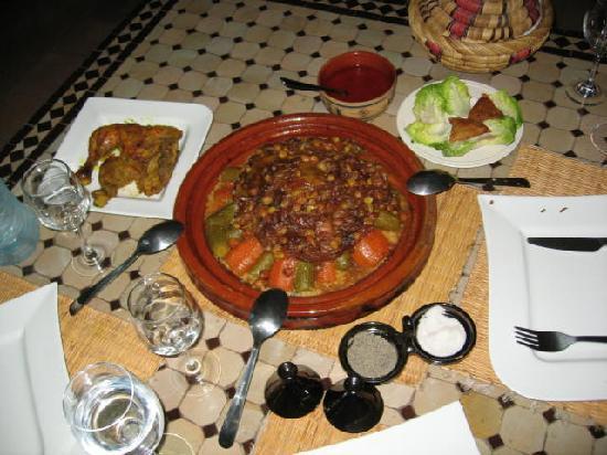 Riad Noor Charana: Magnificent meal