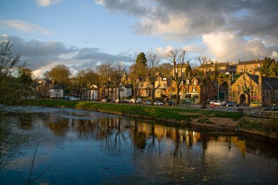 Appleby-in-Westmorland, UK: evening by the river at Appleby
