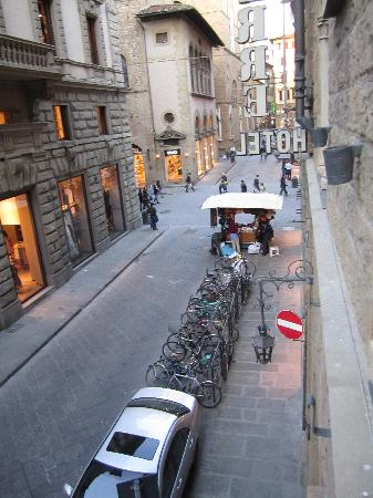 Pierre Hotel Florence: View from the window, looking right