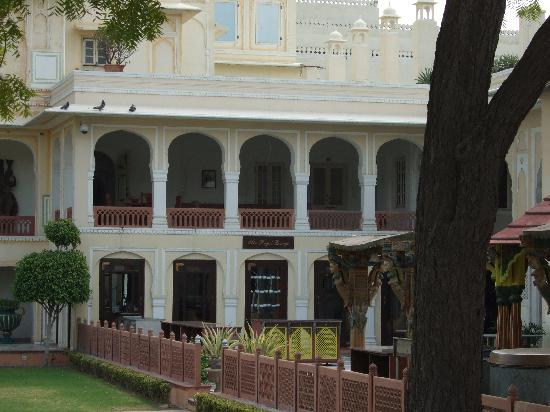 The Raj Palace Grand Heritage Hotel: A view of our balcony