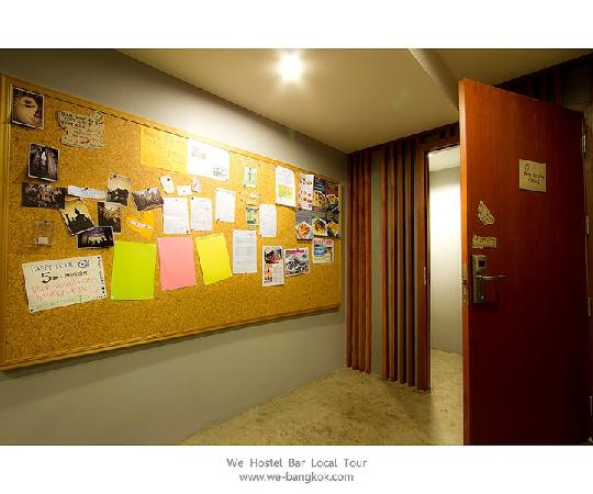 WE Bangkok Hostel: Key card acess and board