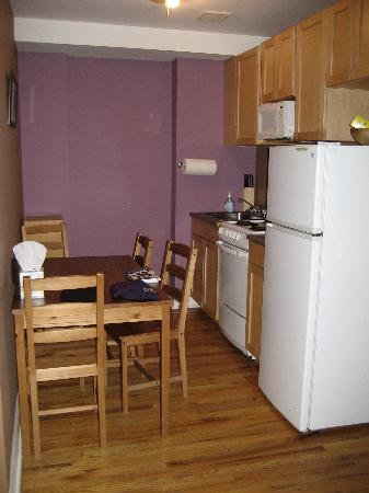 Harlem Bed and Breakfast: Kitchen - light broken, no windows/air