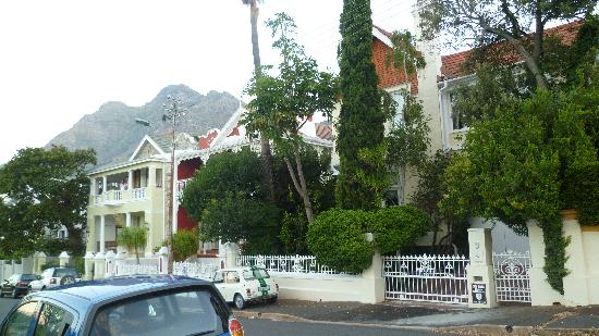 Esperanza Guest House : street guest house is on which is next to a fenced off park/green