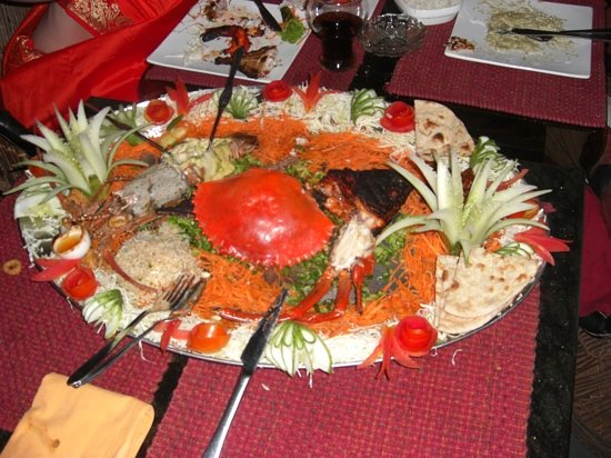 Over the Flames: Sea Food Platter for two - delicious