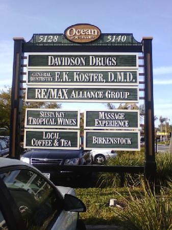 Massage Experience Siesta Key: Siesta Key Village in the Davidson Drugs Plaza