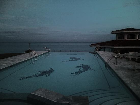 Sherwood Bay Resort: Infinity pool before dawn