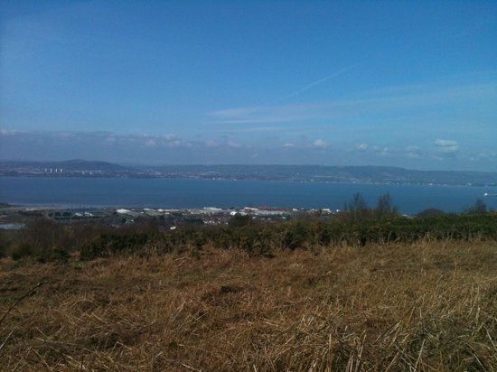 view from top of redburn country park