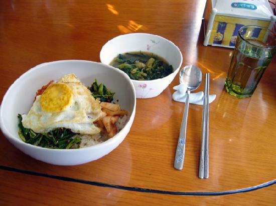Tuyosinoie: 朝食がビビンパの時もあります