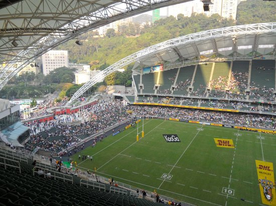Hong Kong Stadium: Right at the top of the stands