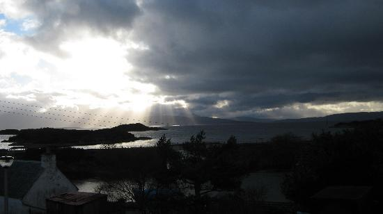 Creag Dubh: view from the bedroom window