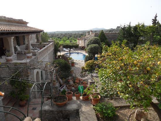 Can Furios Hotel: Blick in den Garten