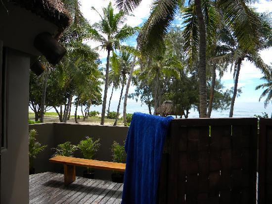 Yasawa Island Resort and Spa: view from outdoor shower