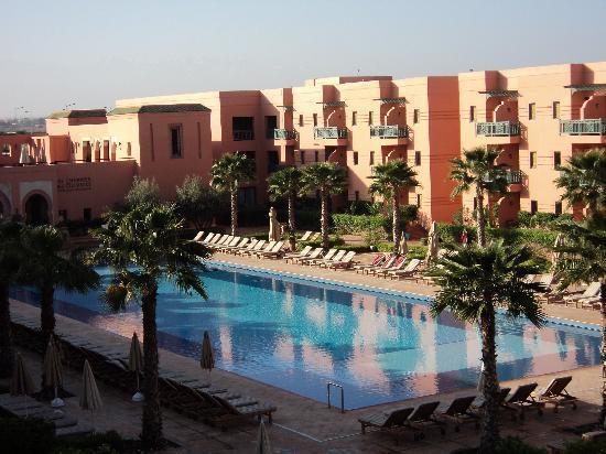 Hotel Les Jardins de l'Agdal: vue sur piscine