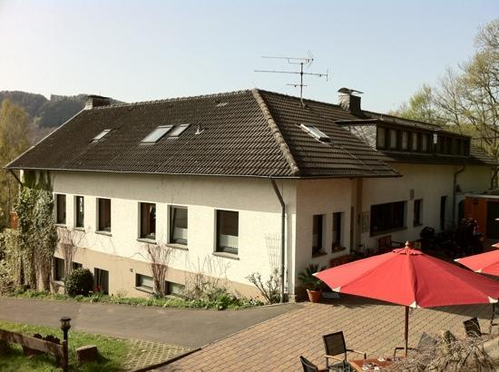 Pension Haus Diefenbach: Terrace and the hotel