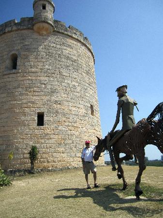 Hotel Gran Caribe Sunbeach: metal sculptur of Don Quixote