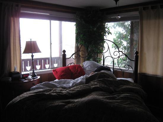 Asheville Swiss Chalets: comfy beds