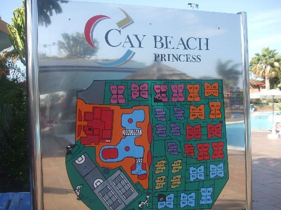 Caybeach Princess: plan of complex