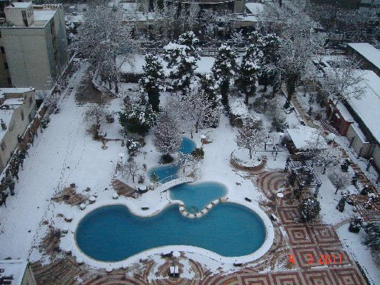 Tehran Homa Hotel: It snowed!