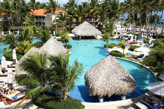 Dreams Palm Beach Punta Cana: Pool View from Above