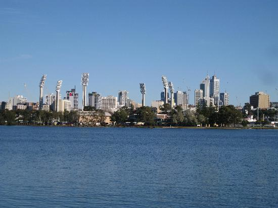 Burswood Park: View of Perth CBD from the Park