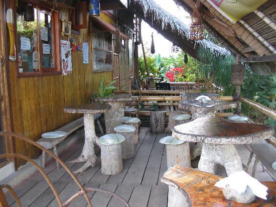 Lamas, Peru: Terasse vom Restaurant